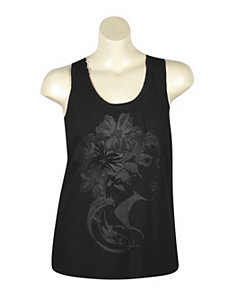 Black Face Time Tank by Just One