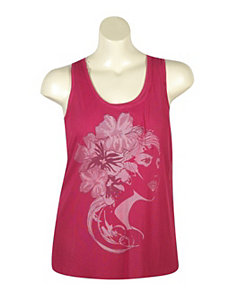 Fuchsia Face Time Tank by Just One