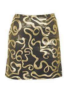 Gold Sequin Skirt by Just One