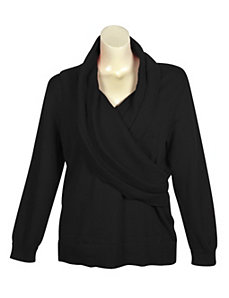 Black Shawl Collar Sweater by Pierri