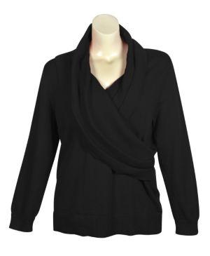 Black Shawl Collar Sweater