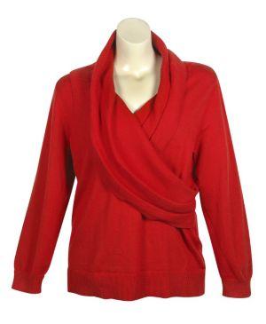 Red Shawl Collar Sweater