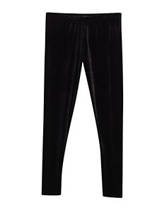 Black Slim Leg Velvet Pant by Forever Young