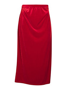 Red Long Velvet Skirt by Forever Young