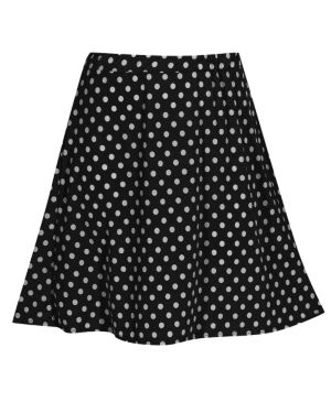 Black Do The Dot Skirt