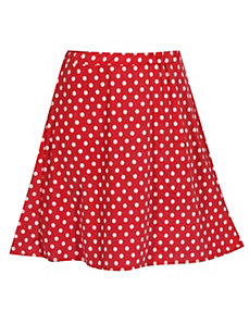 Red Do The Dot Skirt by Forever Young