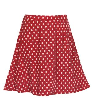 Red Do The Dot Skirt