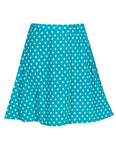 Turquoise Do The Dot Skirt by Forever Young