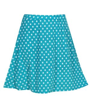Turquoise Do The Dot Skirt