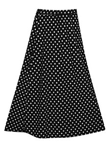 Black Maxi Dot Skirt by Forever Young