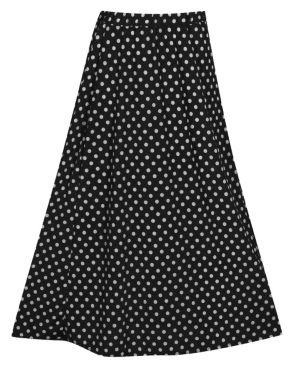 Black Maxi Dot Skirt