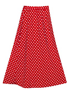 Red Maxi Dot Skirt by Forever Young