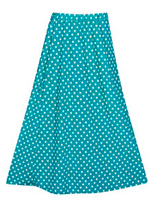 Turquoise Maxi Dot Skirt by Forever Young