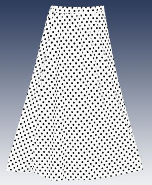 Maxi Dot Skirt