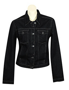 Black Denim Jacket by Blue Faith