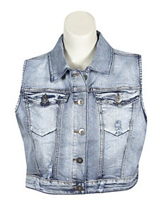 Distressed Denim Vest by Elite Jeans