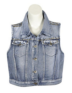 Studded Denim Vest by Elite Jeans