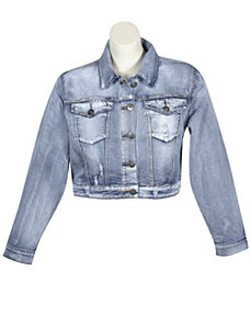 Distressed Denim Jacket by Elite Jeans