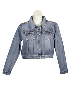 Studded Denim Jacket by Elite Jeans
