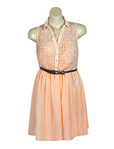 Lace Chiffon Dress by Dress Club