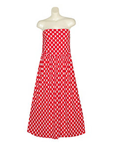 Red Dot Maxi Dress by Gabby