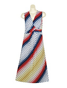 Daring Dot Maxi Dress by Gabby