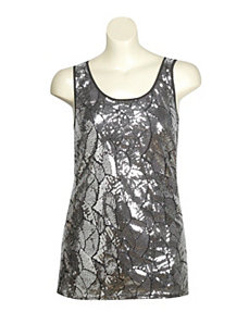 Black Sequin Tank by Gabby