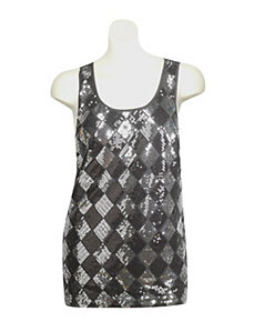 Sexy Sequin Tank by Gabby