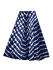 Navy Tie Dye Maxi Skirt by Gabby