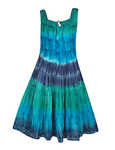 Deep Blues Tie Dye Maxi Dress by Gabby
