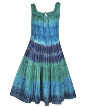 Deep Blues Tie Dye Maxi Dress