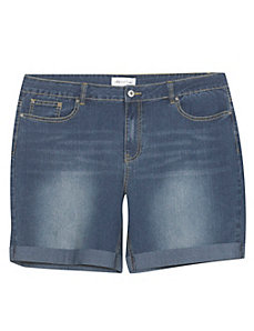 Kansas Cuffed Denim Shorts by Creative Looks