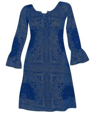 Blue Framed Dress