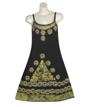 Green Applique Dress