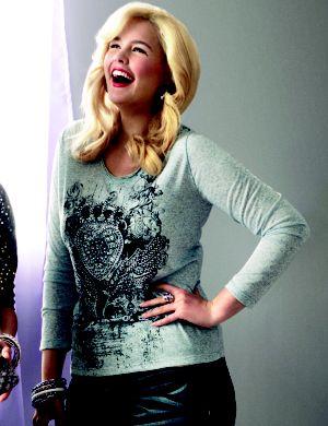 Embellished graphic tee hoodie