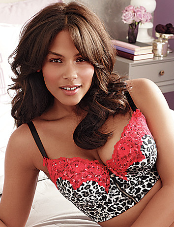 Animal print longline demi bra by Cacique