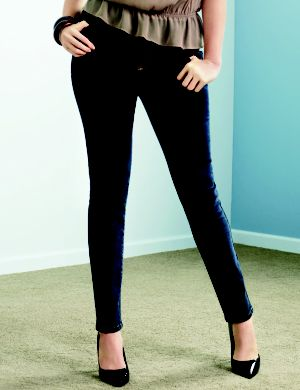 Genius Fit™ dark rinse jegging