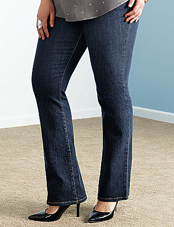Genius Fit slim boot jean by Lane Bryant