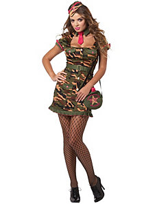 Private First Class Adult Plus Costume by California Costumes
