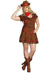 Giddy Up Adult Plus Costume by Dreamgirl
