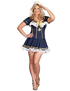 Rockin' The Boat Adult Plus Costume by Dreamgirl