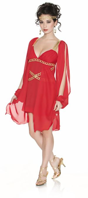 Goddess in Red Adult Plus Costume