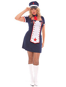 Naval Knockout Adult Plus Costume - 1X/2X by Elegant Moments