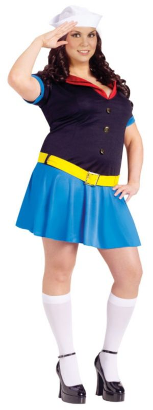 Ms. Popeye Adult Plus Costume