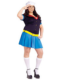 Ms. Popeye Adult Plus Costume by Fun World