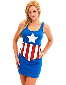 Marvel Comics Captain America Tank Dress by Costume Agent