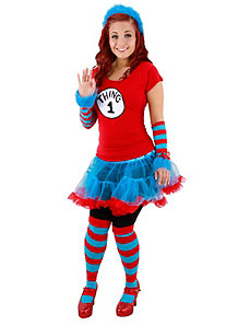 Cat In The Hat Thing 1 and Thing 2 Tutu Costume by Elope