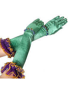 Velvet Mardi Gras Gloves by Forum Novelties Inc