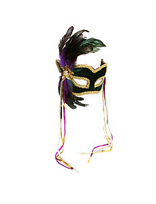 Mardi Gras Feather Couples Mask by Forum Novelties Inc