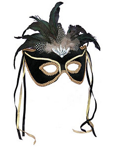 Black Feather Couples Mask by Forum Novelties Inc